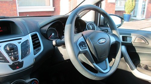 Photo of the view of a speedo from passenger seat of a Ford Fiesta