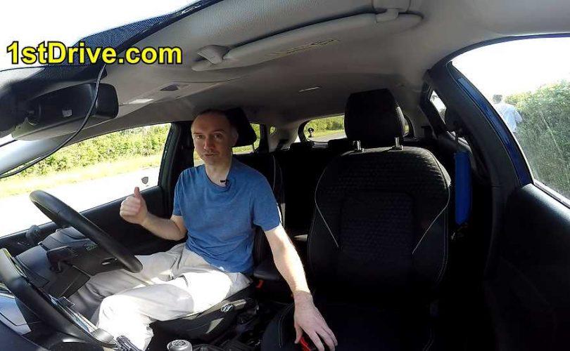 Paul explaining social distancing in car