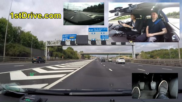 Driving lesson videos showing Lucy learning how to drive on a motorway in Birmingham