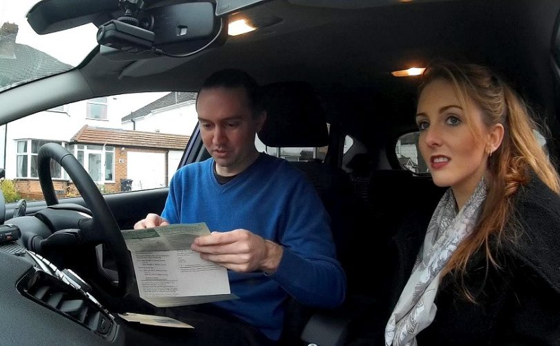 Checking a driving licence