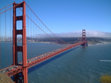 A photo taken of the Golden Gate bridge taken by me while on holiday in San Francisco
