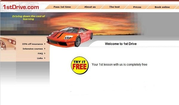 Picture of the 2nd version of my website