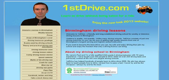 Picture of the 4th version of the 1stdrive website
