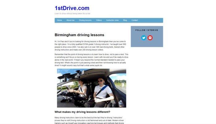 1stDrive.com site mark 5